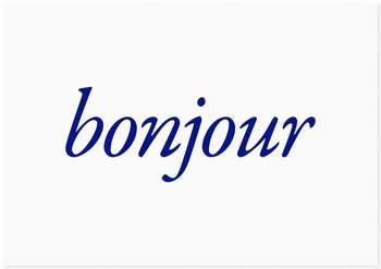 Bonjour! Grades 4 and 5 1st Quarter News