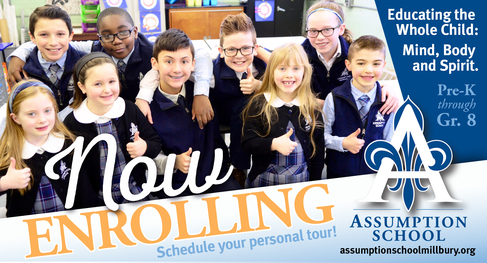 Assumption School Millbury Now Enrolling