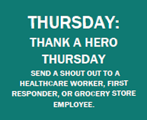 Shout Out a Hero-Thursday of Spirit Week