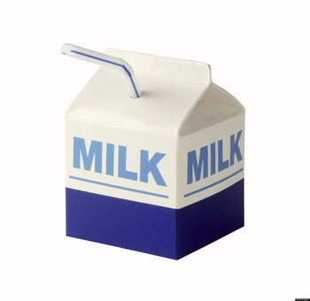 Serving Milk at Lunches
