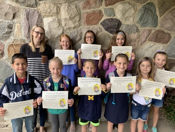 Virtuous Students of the Month