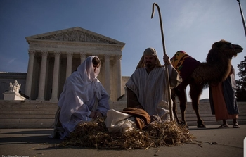 Live Nativity Scene in Washington, DC