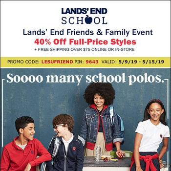 Lands' End Uniform Sale 5/10-5/15