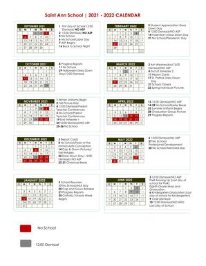 SAS Calendar at a Glance