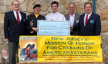 $8,022.00 Raised for NJ Mission of Honor For Cremains of American Veterans