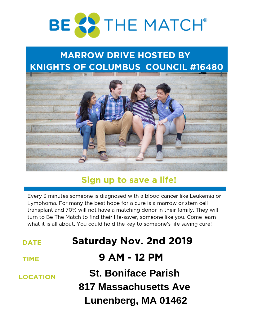 Be the Match Marrow Drive hosted by Knights of Columbus Council #16480
