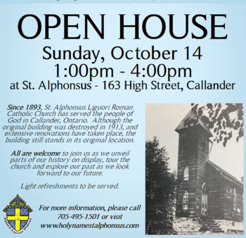 OPEN HOUSE: Come tour St. Alphonsus Church!