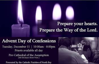 Advent Day of Confessions - This Tuesday, December 11