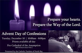 Advent Day of Confessions - Tuesday, December 10