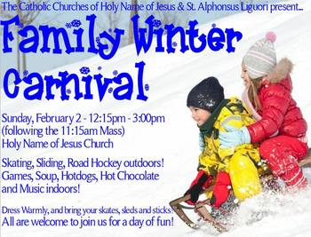 Photos from our Family Winter Carnival!