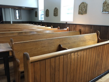 Help Wanted! Staining Pews at St. Alphonsus