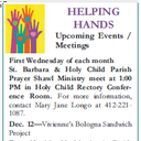 Helping Hand Monthly Meeting