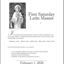 First Saturday Latin Mass