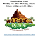 Vacation Bible School - 1st Session