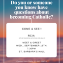 Questions about becoming Catholic?