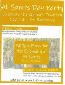 All Saints Day Party - Dinner