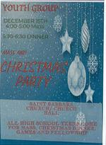 Youth Group Mass and Christmas Party