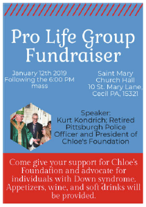 Pro Life Group Fundraiser