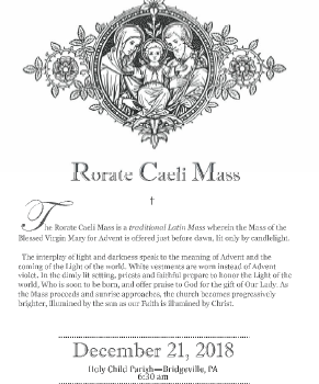 Rorate Caeli Mass