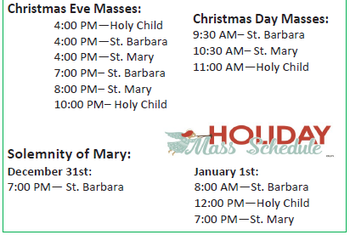 Christmas Eve Mass at St Mary's
