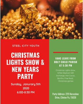 Steel City Youth Christmas Lights Show & New Years Party