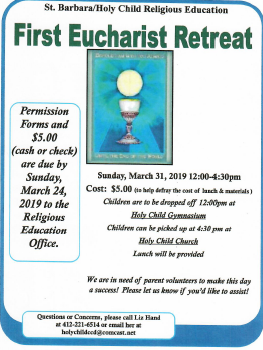 First Communion Retreat