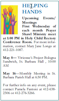 Helping Hands Monthly Meeting
