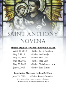 Saint Anthony Novena