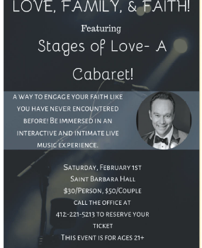 Cabaret! Love, Family & Faith!