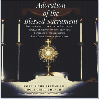 Advent Adoration Cancelled