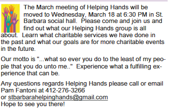 Helping Hands Meeting