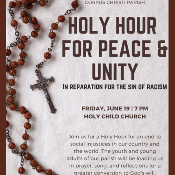 Holy Hour for Peace & Unity