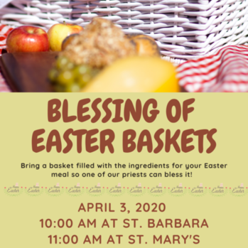 Blessing of Easter Baskets