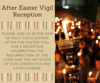 After Easter Vigil Reception