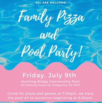 Family Pizza and Pool Party