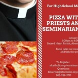 Pizza with Priests and Seminarians