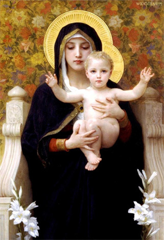 The Madonna of the Lilies 1899by William-Adolphe Bouguereau