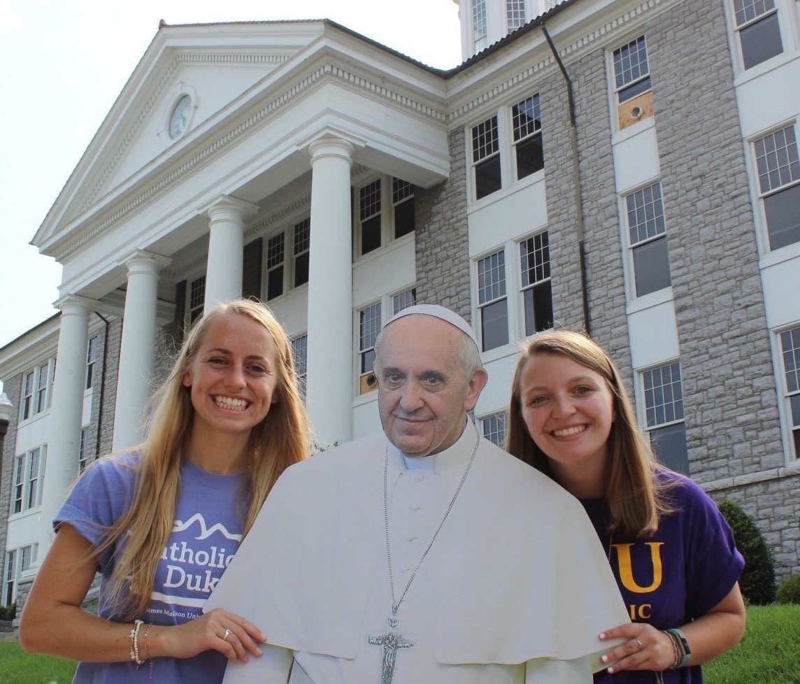 Pope on the Quad