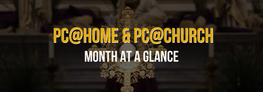 PC@HOME and PC@CHURCH Schedule