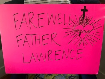 Drive By Farewell Parade for Father Lawrence
