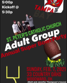 ST. PETER ADULT GROUP SUPERBOWL PARTY