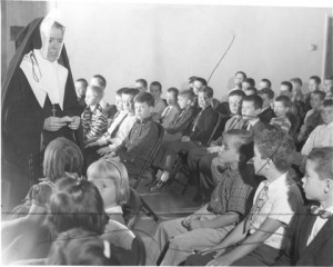 Sister St. Rose Marie was the first superior of the convent and principal of the school.