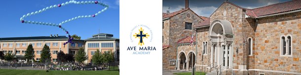 Pictures of the Bethel Park and Mt. Lebanon campuses of Ave Maria Academy