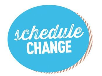 DAILY MASS SCHEDULE CHANGE for week of 7/19 - 7/23