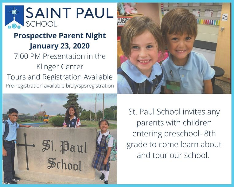 Prospective Parent Night January 23 2020 7:00 PM
