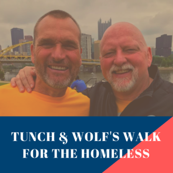 Tunch and Wolf Walk for the Homeless- Light of Life