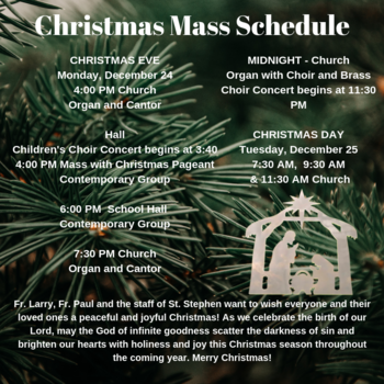 Christmas Day Masses