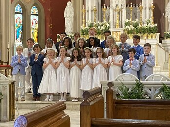 Second Graders Celebrate First Communion
