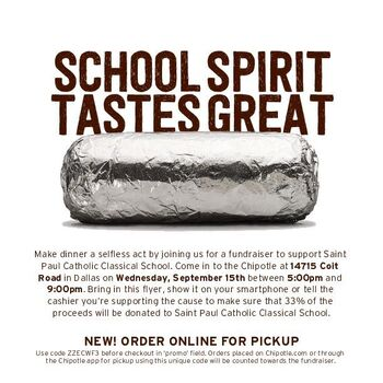 SPCCS Spirit Night and Chipotle