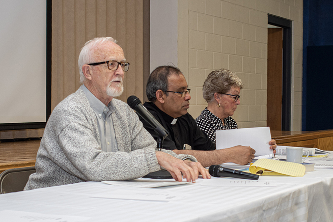 Bob Laird discusses the activities of the Social Justice Committee at the 2019 AGM